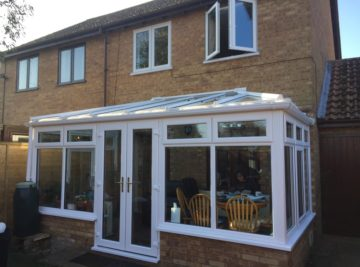 new Kommerling windows and conservatory
