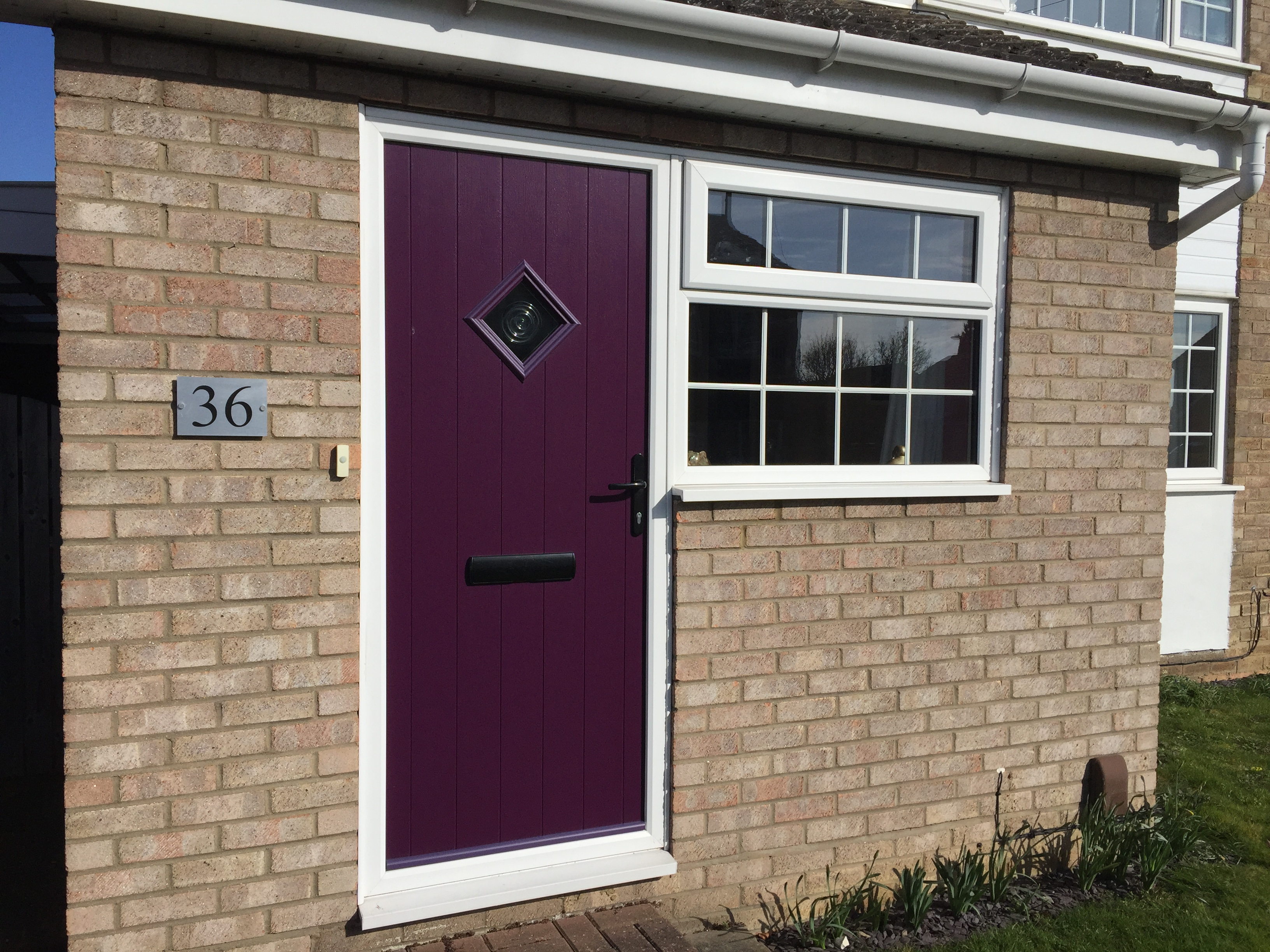 aubergine flint diamond solidor with kommerling window