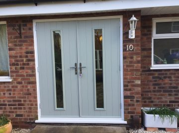 french grey solidor installation